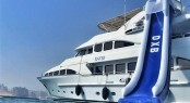 Exterior of luxury yacht DXB