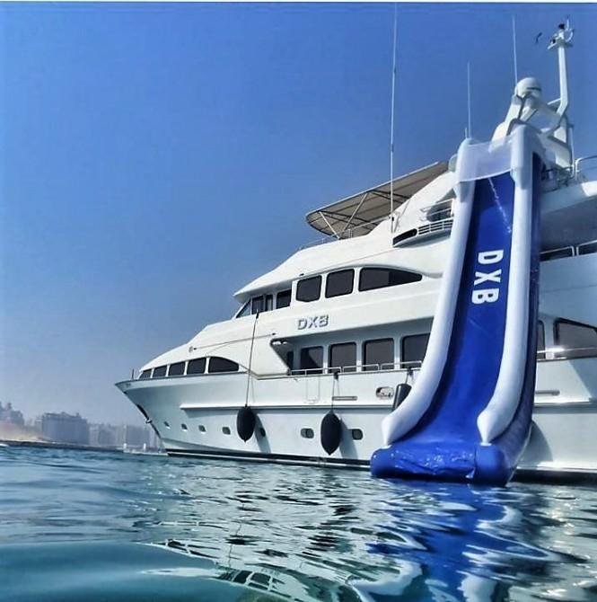 Exterior of luxury yacht DXB