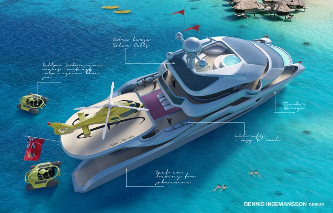 Follow The Sun - a ultra-luxurious catamaran concept by Dennis Ingemansson