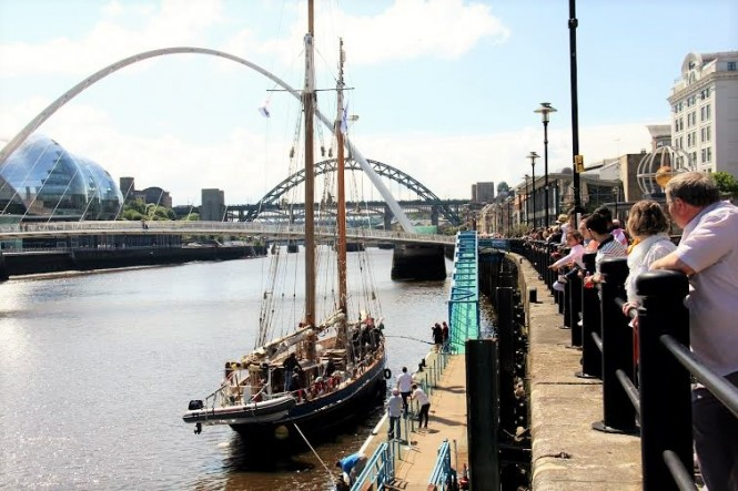 The Turn to Starboard crew in Newcastle