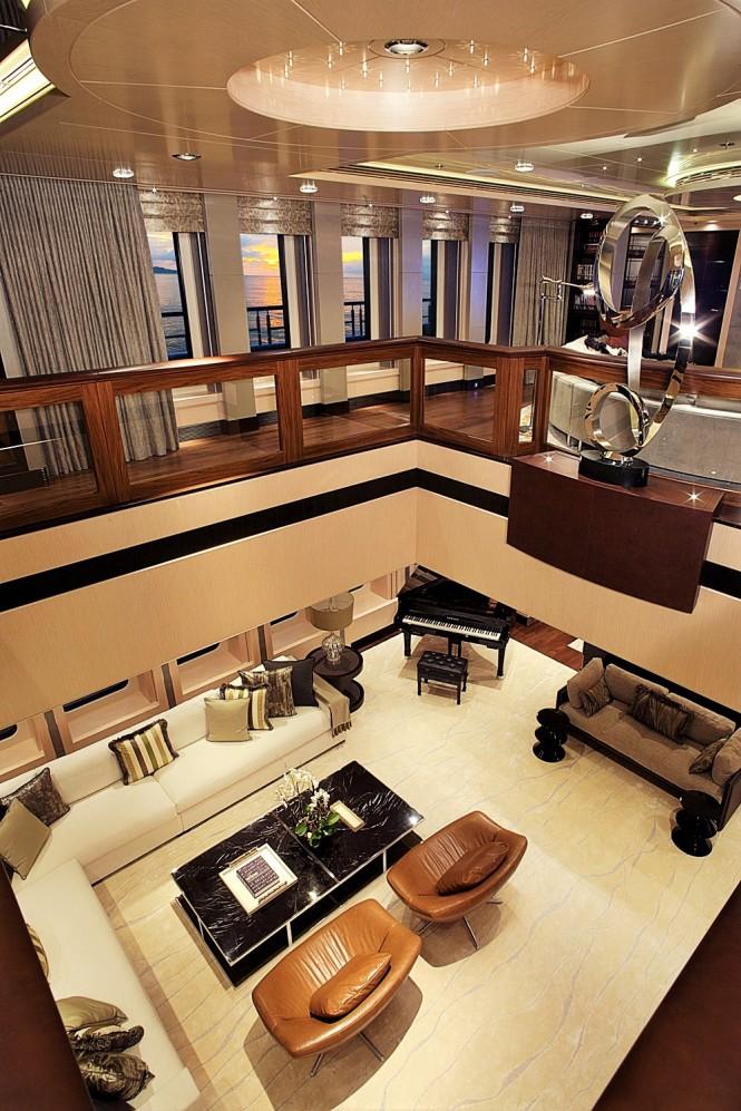Superyacht VICKY - upper saloon