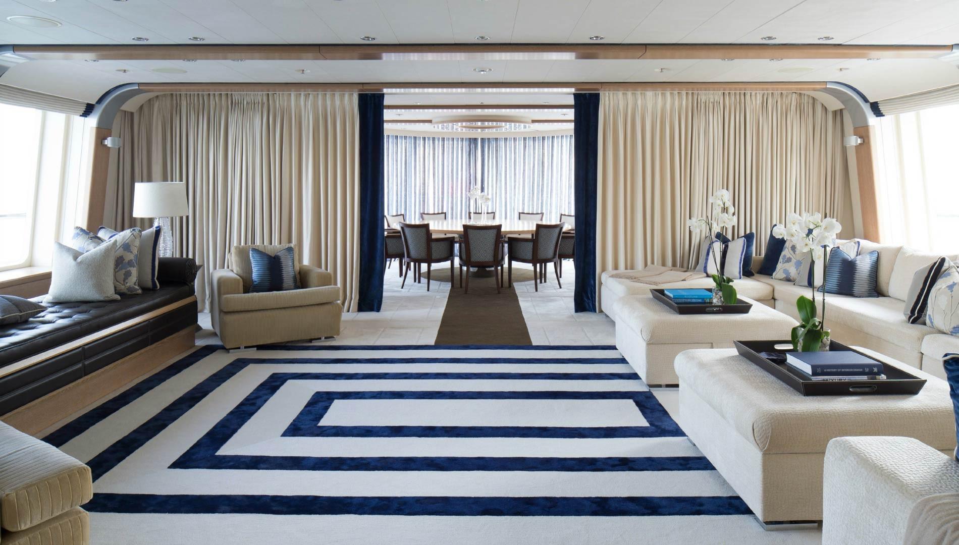 Luxury superyacht keyla interior by hot lab luxury yacht charter - Luxury Yacht Ice Angel Saloon