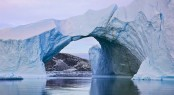 Kayak amongst breathtaking scenery along the Greenland coast.