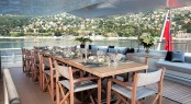Alfresco dining on luxury yacht MARIU