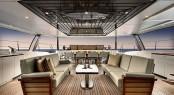 Luxury yacht KOKOMO - Alfresco dining on the aft deck.