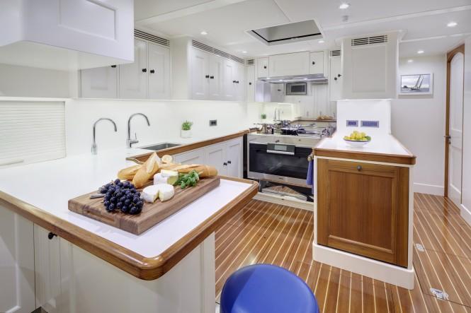 Sailing yacht CYGNUS MONTANUS - Galley. Image © Matt Crawford