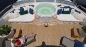 Yacht AZTECA II -  Sundeck Spa Pool
