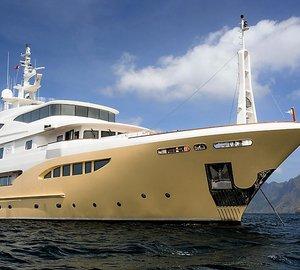 Charter superyacht Jade 959 in the Mediterranean this summer