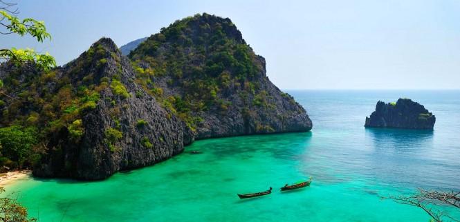 A Myanmar beach