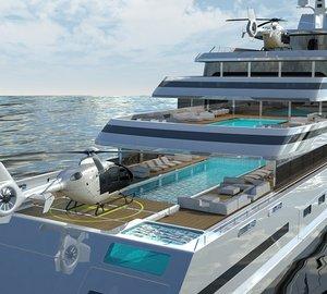 Amazing Glass Yacht the 110m HALYCON by New York Designer