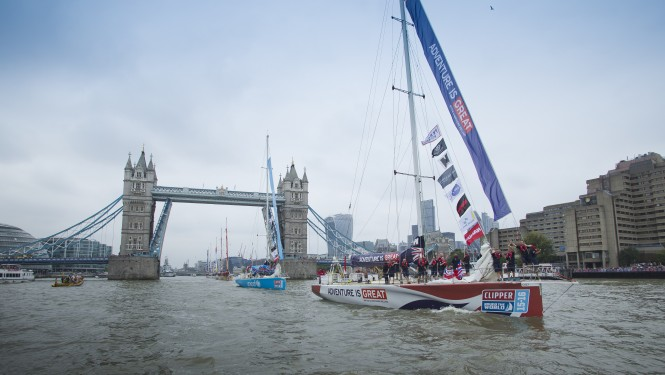 The GREAT BRITAIN crew return to London