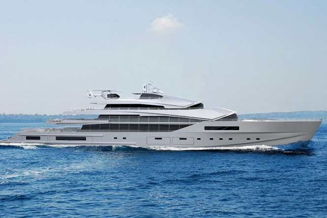 90 m superyacht design