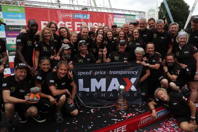 The LMAX Crew celebrate their victory