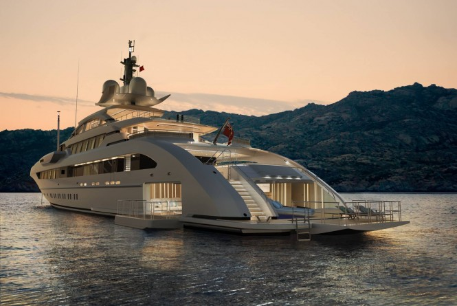 Kometa at dawn (70m alu) by Heesen Yachts