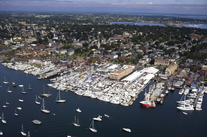 Aerial view from the 2015 Newport International Boat Show.