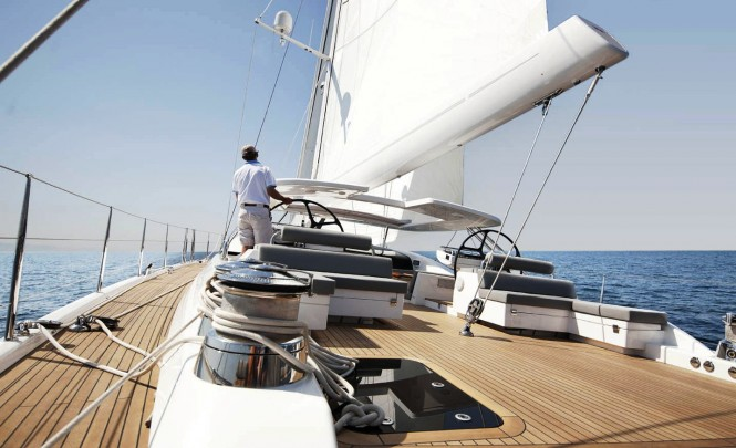 Sailing an Oyster 100 superyacht
