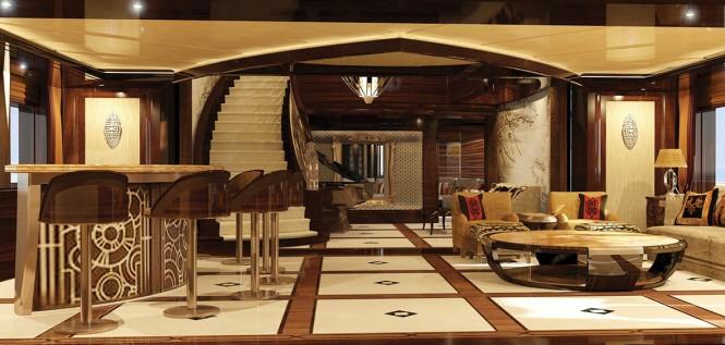 Luxury yacht KISMET - Main saloon