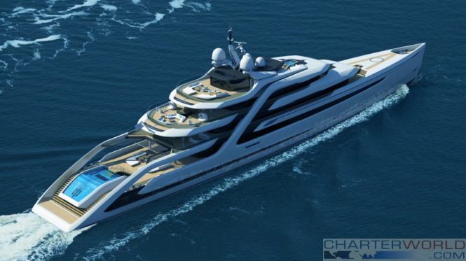 Andy Waugh Concept Yacht The 111m Ascendance