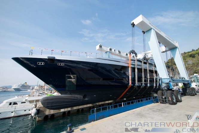 The M60 superyacht SARASTAR launched from