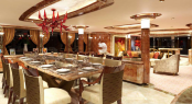 Luxury yacht LADY SARA - Dining area attached to main saloon