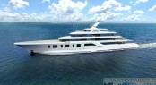 Sinot Exclusive Yacht Design - Superyacht Aquarius or Project Touchdown renderings - profile
