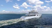 Sinot Exclusive Yacht Design - Superyacht Aquarius or Project Touchdown renderings - stern
