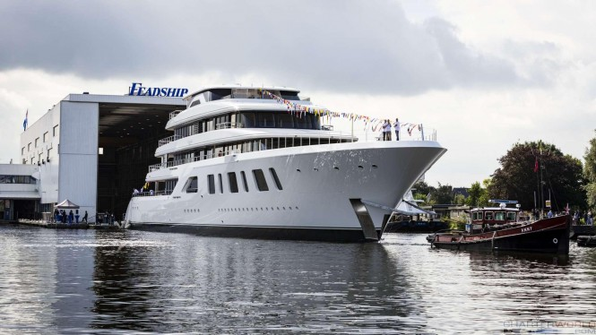 Superyacht AQUARIUS at her Launch - image by Feadship