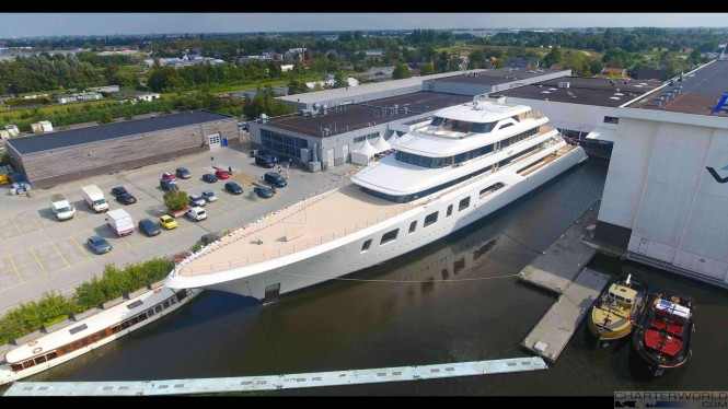 Superyacht AQUARIUS at her Launch - image by Feadship 23
