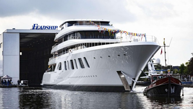 Superyacht AQUARIUS at her Launch - image by Feadship 5