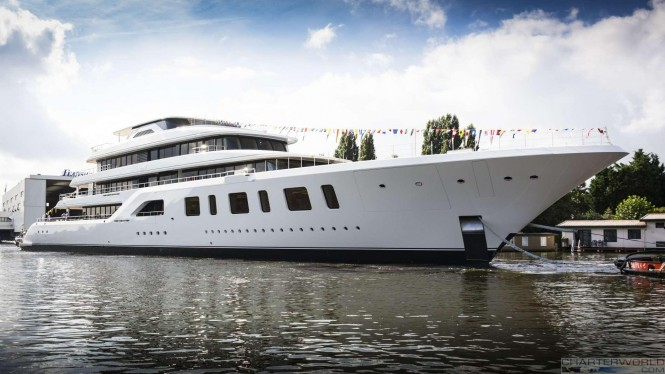 Superyacht AQUARIUS at her Launch - Profile image by Feadship