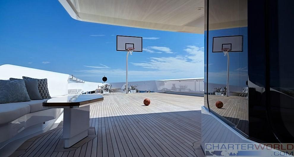 Superyacht Joy Fore deck Basketball Court