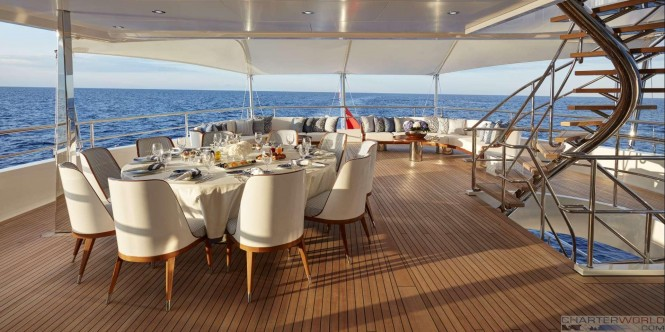 Yacht JOY Exterior Al Fresco - Copyright Feadship
