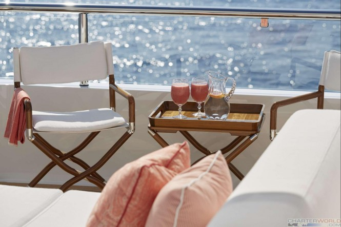Yacht JOY Exterior Seating - Copyright Feadship