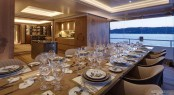 Yacht JOY Interior Dining - Copyright Feadship