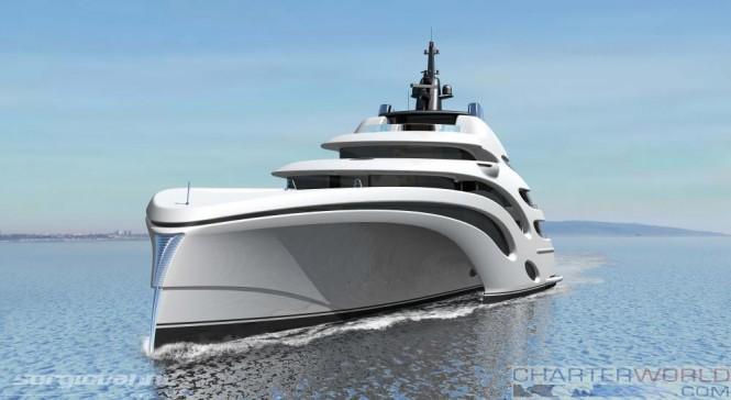 102m Trimaran Concept Echo Yachts