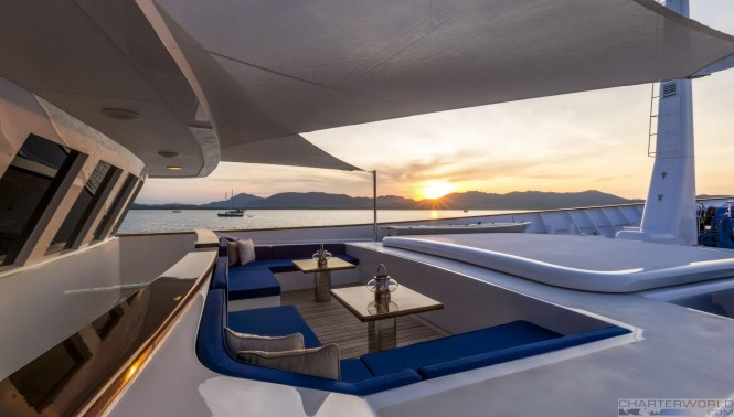 Luxury yacht Norther Sun - Sun deck