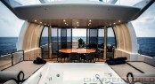 Luxury yacht OKKO - Jacuzzi, bar and sheltered alfresco dining on the fly-deck.