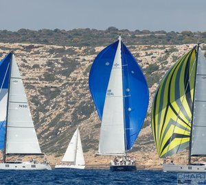 Tactical racing on day 3 at the Oyster Palma Regatta