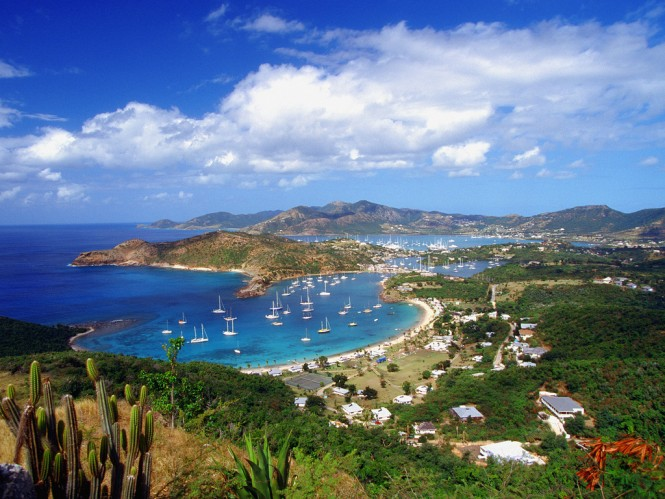 English Harbour and Falmouth Harbor, Antigua, Caribbean. Photo by Ocean/Corbis