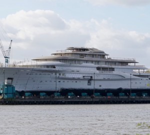 Exclusive Video and Photos: Highly Secretive 130m+ Lurssen Mega Yacht Unveiled