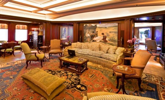 Superyacht Samar. Main Salon