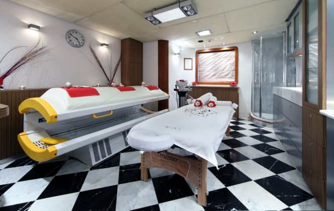 Spa therapy services aboard superyacht SHERAKHAN