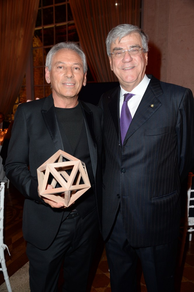 Stefano Righini (left) with Paolo Vitelli, Azimut|Benetti Chairman