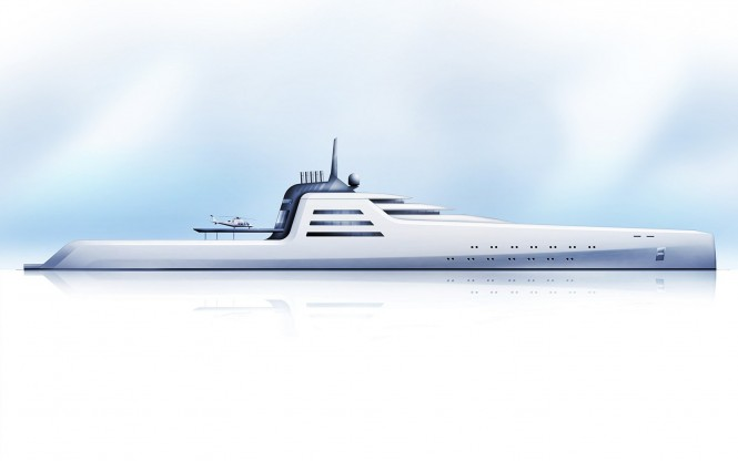 200m superyacht concept the transporter by the h2 yacht design