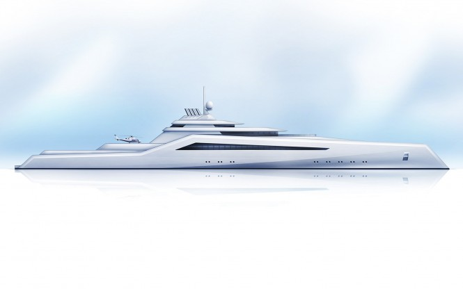 The H2 200m superyacht the Transporter