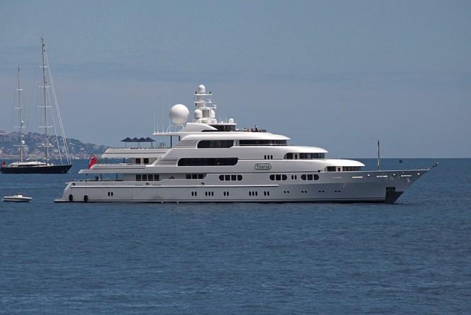 Mega yacht Titania. Photo by Michel Varlet