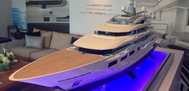 Presentation of Project Yasmin. Model of the superyacht