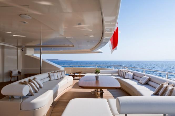 Super Yacht NATALINA A - Aft deck