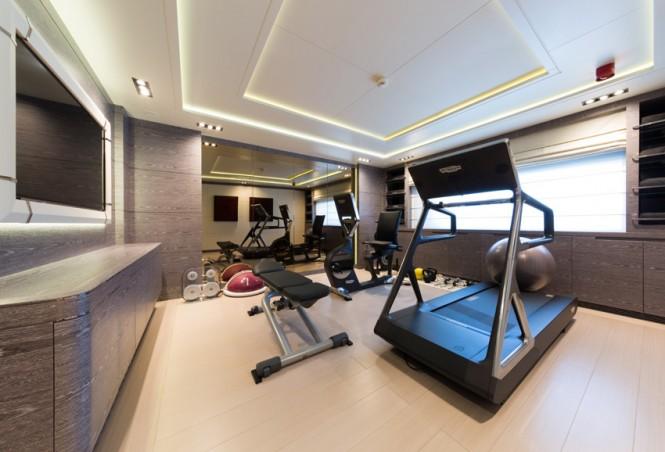 Super Yacht NATALINA A - Gym