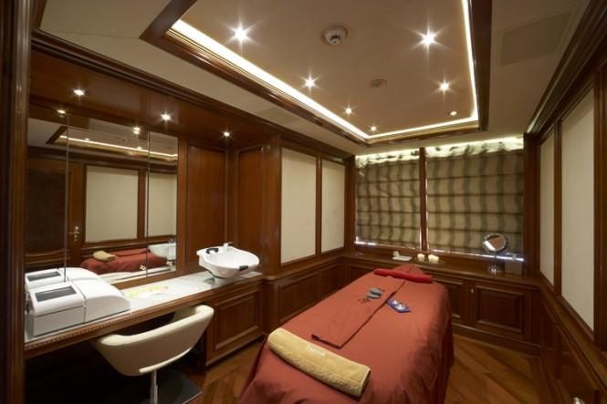 Superyacht TITANIA Second Massage Room